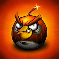 Black Angry Bird by Scooterek