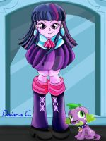Twilight Sparkle Spike from MLP Equestria Girl by 8LunaBianca8