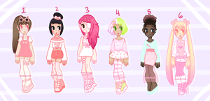 [ Pastel Pink Adopts ] - [CLOSED] by hello-planet-chan