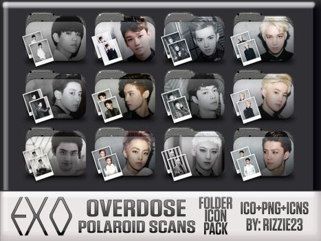 EXO Overdose Polaroid Scans Folder Icon Pack by Rizzie23