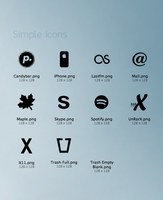 10 Simple Black Icons: pngs by marique