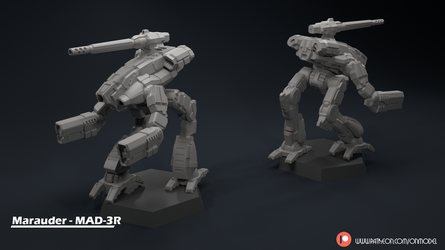Marauder - MAD-3R Miniature Sculpt by Sentinel373