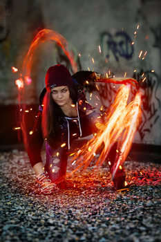 Delsin Rowe (fem!) - InFAMOUS: Second Son by Letaur