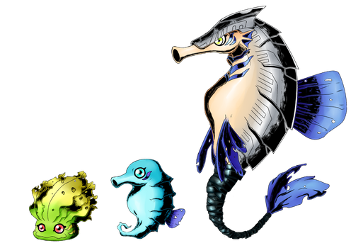 Digimon - Pipemon Line by Gaartes
