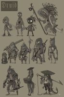 Druid Character Concepts by ElBrazo