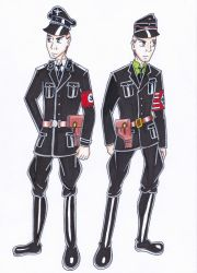 Obersturmfuhrer and Arrow Cross uniform by R7artist