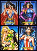 FEMFORCE AP SKETCH CARDS by AHochrein2010