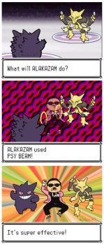 ALAKAZAM used PSY BEAM by Anubis-007