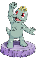 Happy Machop by IndigoWildcat