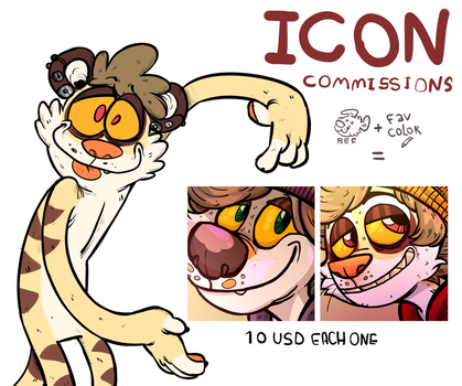 Icon Commissions OPEN!! by SuperCrazyHyena