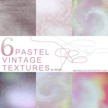 6 Pastel Vintage Textures 003. by MikoneLOVE