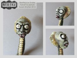 Beetlejuice Snake Fanart headshots by bookstoresue