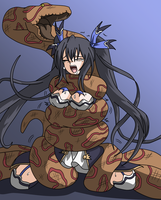 Snake Squeeze Noire From Neptunia B by kaitakuan by elmonais