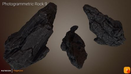 [Free] Photogrammetric Rock 9 by Yughues