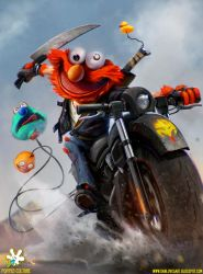 ELMO - The Muppet Bounty Hunter by DanLuVisiArt