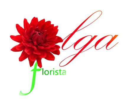 Logo Olga flower shop by dantraxx