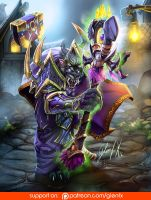 World Of Warcraft worgen HOZS (Player Character) by Axigan