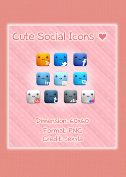 Cute Social Icons Set by Jexyla