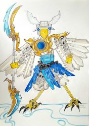 Fan art - Eris - Robot. Lego Eagle by jonkania