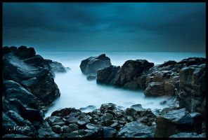 Beach at night by nfp