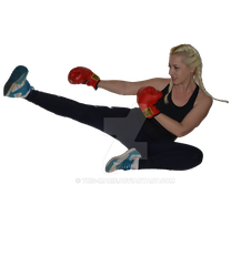 Air Kick Cutout PNG by Tris-Marie