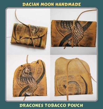 Dracones Tobacco Pouch by NessaSilverwolf