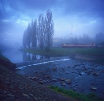 - early morning train - by UNexperienced