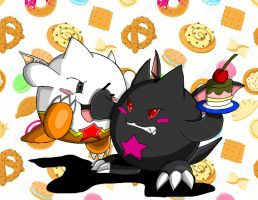 Puzzle and Dragons X - Fighting for a Cake by DSxpo