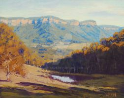 Blue Mountains Valley by artsaus