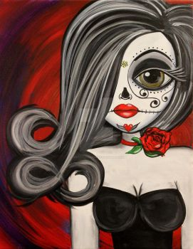 Lowbrow Big Eye Art Love That Moves Me by lizzyfalconart
