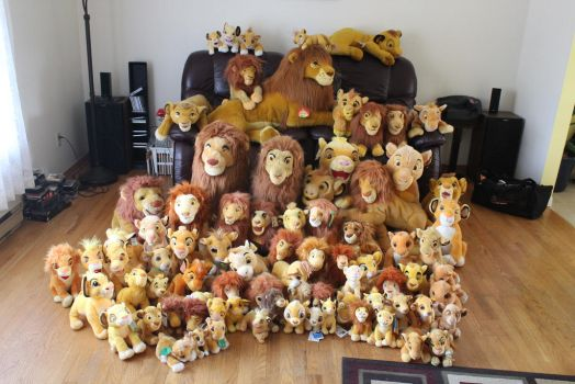 All my Simba plushies by Laurel-Lion