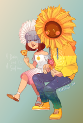 Art Contest || Lil' Daisy and the Big Sunflower by Marshellle