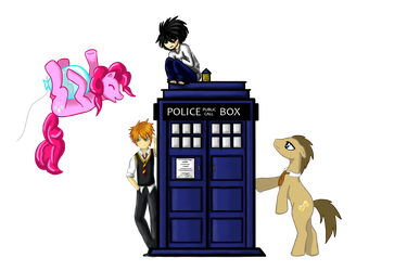 L and the TARDIS...and many more. by VictoriaChen