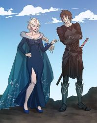 Commission: ELSA and ONYX by papillonstudio