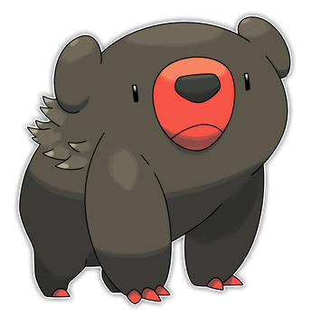Flambear, Flammable Fakemon by Smiley-Fakemon