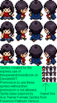 Human Lea Sprite sheet x4 by kirby144