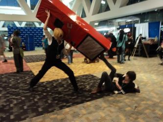 Otakon 2011: Shizuo and Izaya by Manic-hyper-hedgehog
