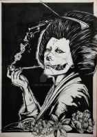 Smoker Geisha Black and White by Khov97