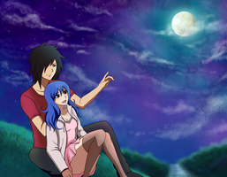 Setsuna x Juvia .:commission:. by Inspired-Destiny