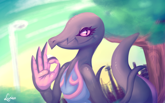 Salazzle - Satisfactory Salutations by Reshidove