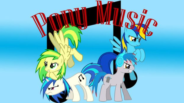 Wallpaper Pony Music rocks by Barrfind