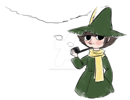 Snufkin Doodle by Duck-Roulette