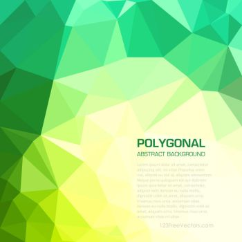 Geometric Polygon Yellow Green Background Free by 123freevectors