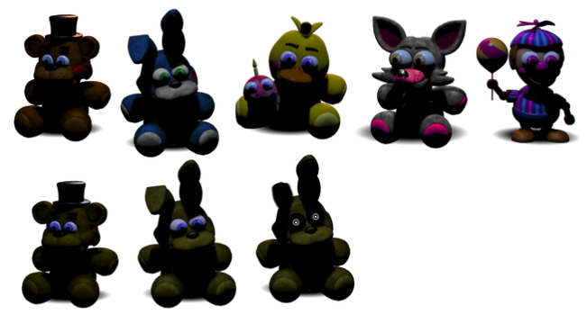 Extra FNaF Plushies Pack by DaHooplerzMan