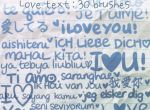 Love Text Brushes by ibeliever