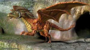 sculptris winged dragon by Marqoni