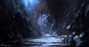 Dungeon entrance by Lioucihan