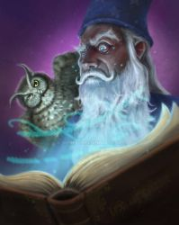Merlin and Archimedes  by didok80
