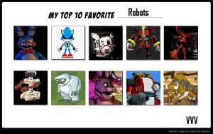 My Top 10 Favorite Robots meme by magolorandmarx