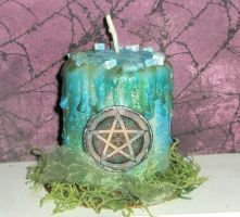 Spirit Pentacle Candle by grimdeva